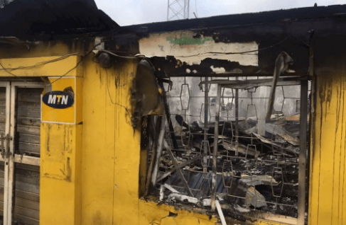 Xenophobia: MTN office set ablaze in Ibadan