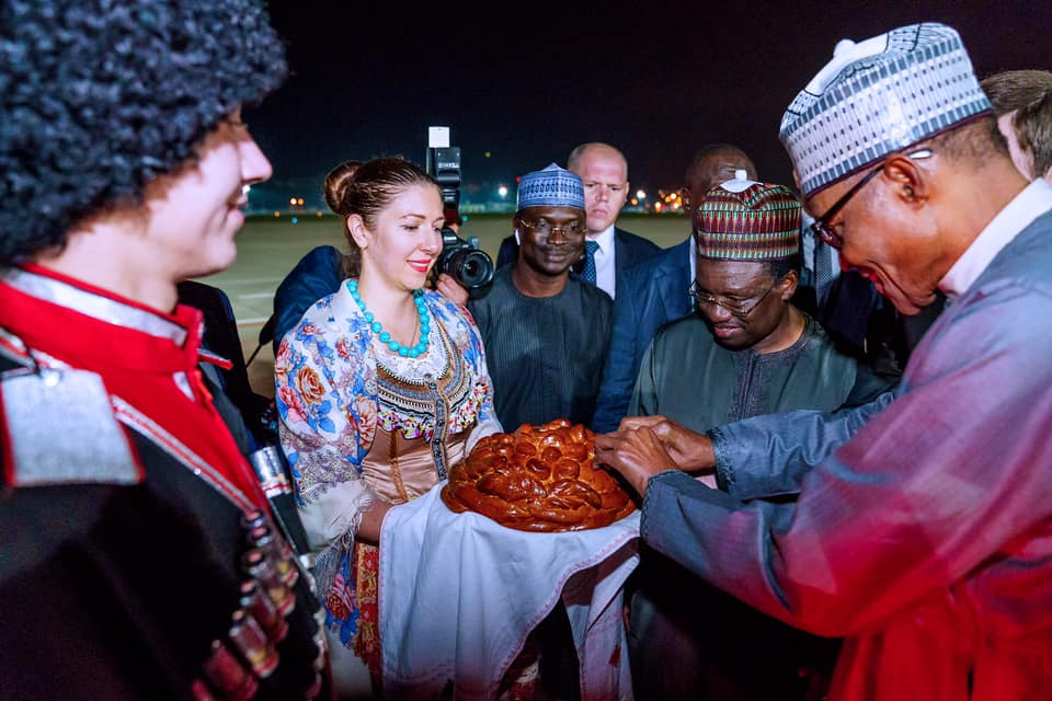 Buhari arrives Sochi ahead of Russia–Africa Economic Summit