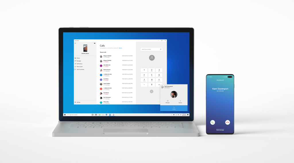 Microsoft enables call syncing between Android and PC Your Phone App
