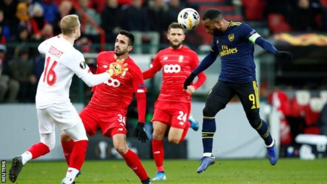 Lacazette headed Arsenal back in contention against Standard Liege