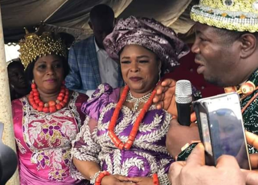 Patience Jonathan conferred with Omuma Royal title 'Nneoma 1 Of Omuma'