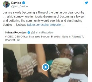 davido Reacts To Sowore Being Apprehended