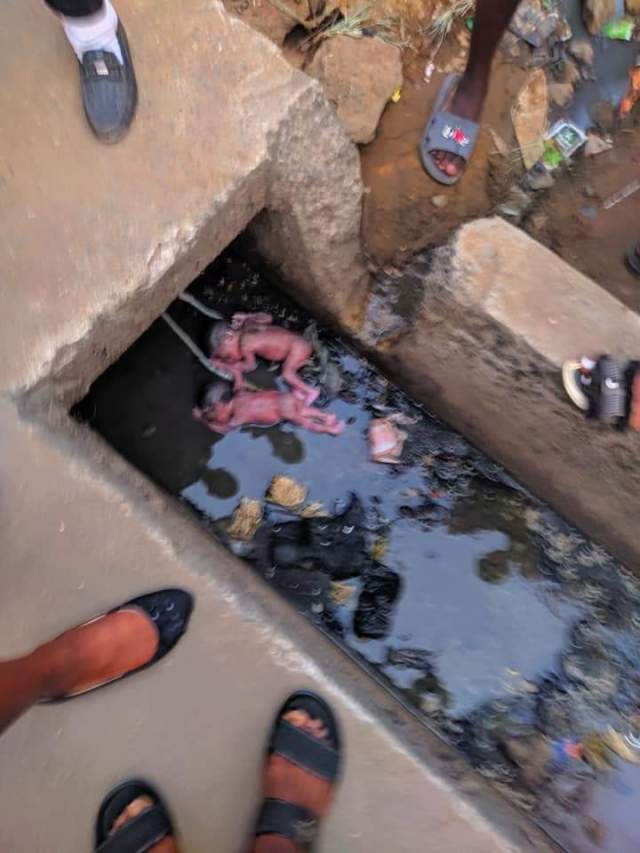 Teenage Mother Dumps Newborn Twins Inside Gutter (VIEWER'S DISCRETION)