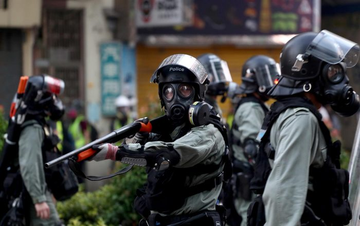 Hong Kong police detonates pipe bomb made by protesters