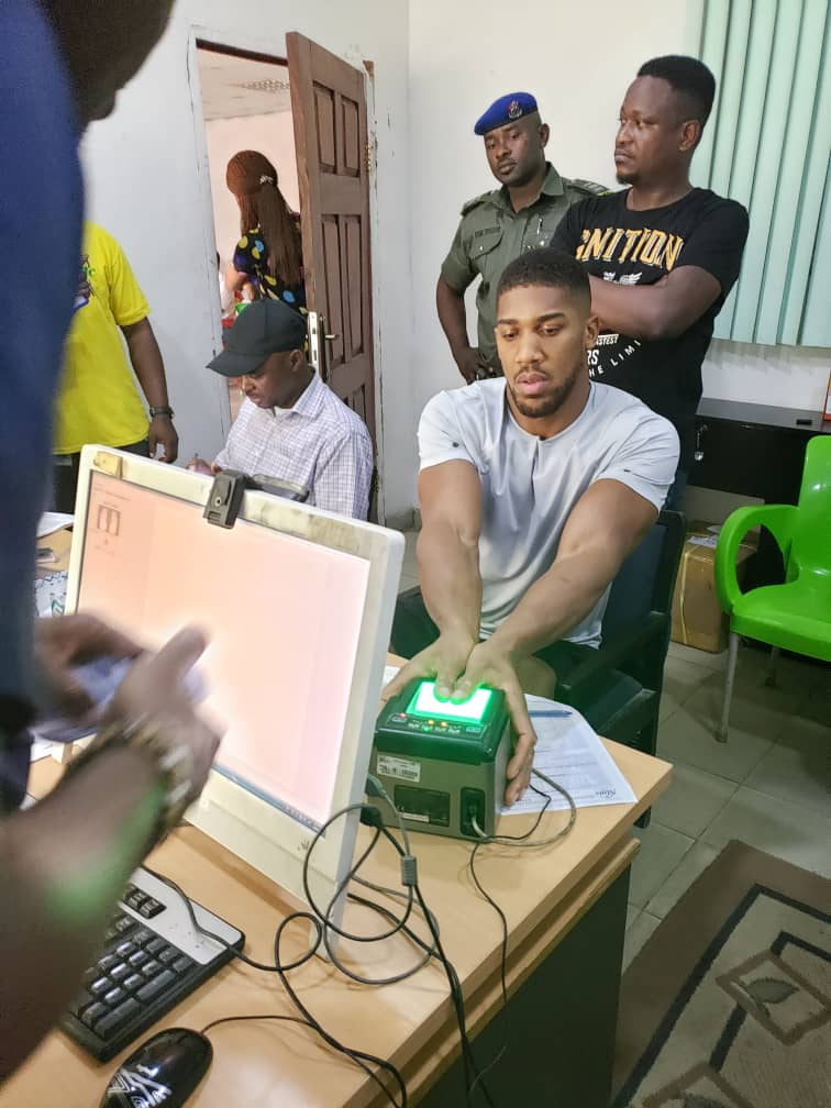 Anthony Joshua enrolls for NIN