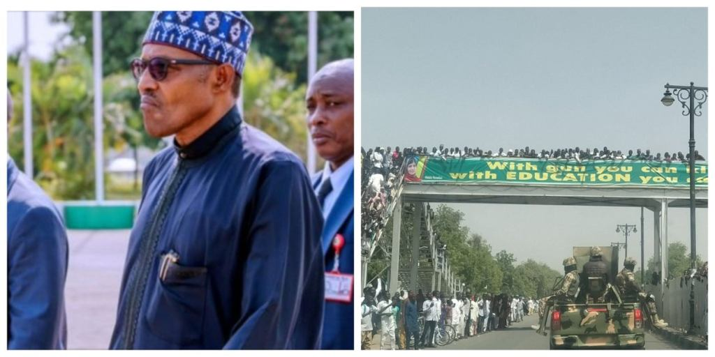 From 'Sai Baba' To 'Bama So', Borno residents boo President Buhari out of state