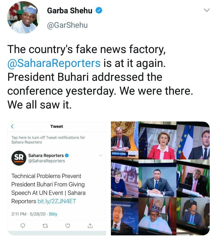 Buhari on UN event