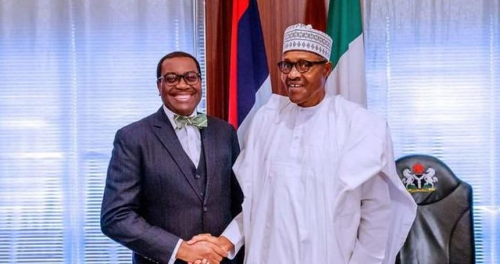 AfDB boss, Adesina and President Buhari