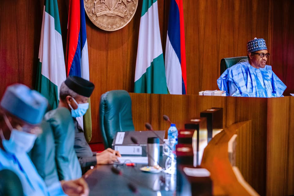 Buhari at APC NEC meeting