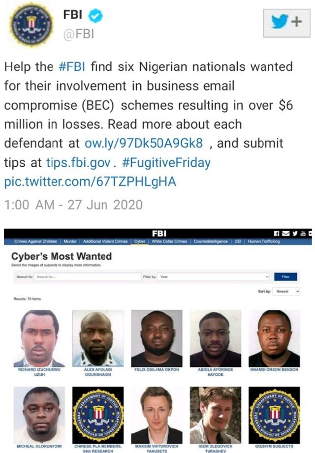 FBI 6 Nigerians