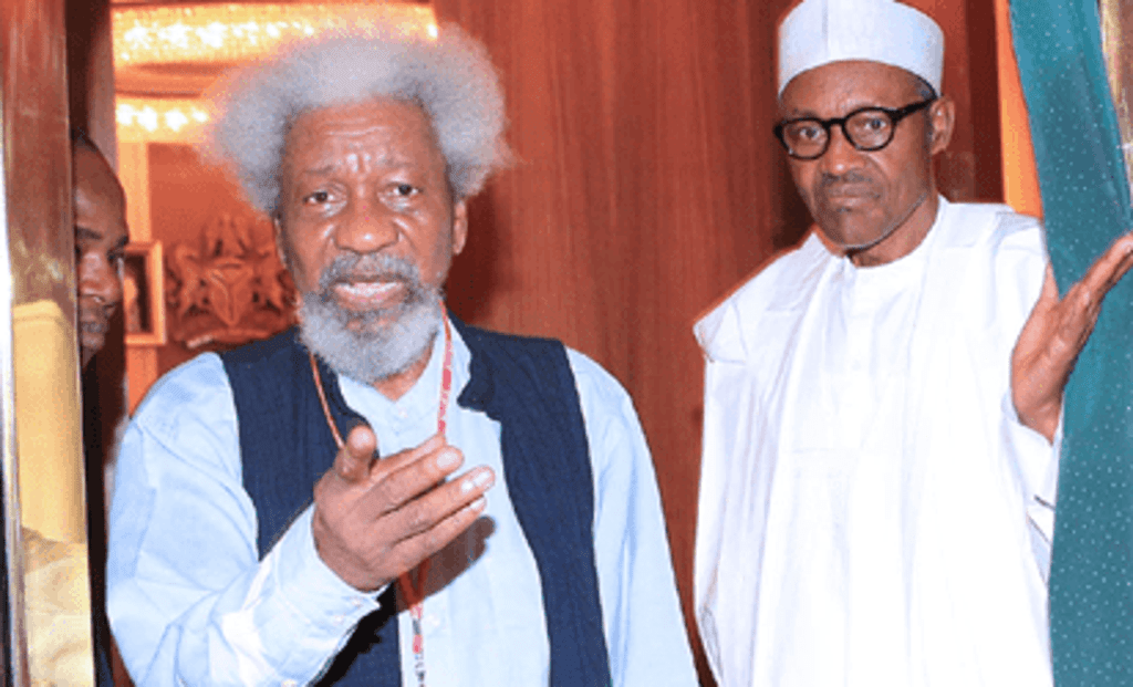 Wole Soyinka: Buhari is not in charge of Aso Rock