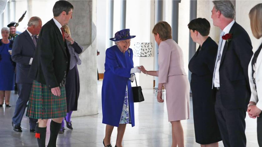 Queen joins MSPs to mark 20th anniversary of Scottish Parliament