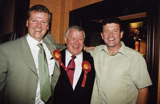 Above from left: MP Michael McCann, Adam Ingram, former MP for East Kilbride, developer and Labour donor James Kean
