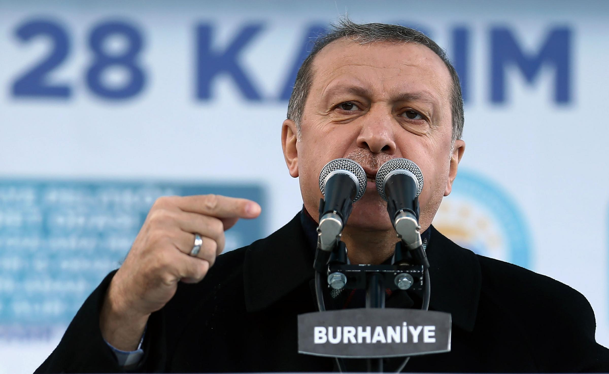 Turkish President Recep Tayyip Erdogan who wants to expand the powers of his office, has cited Hitler's Germany as an example of a presidential political system.