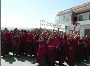 HeraldScotland: Protests against Chinese rule in Tibet last March marked the anniversary of uprisings in 1959