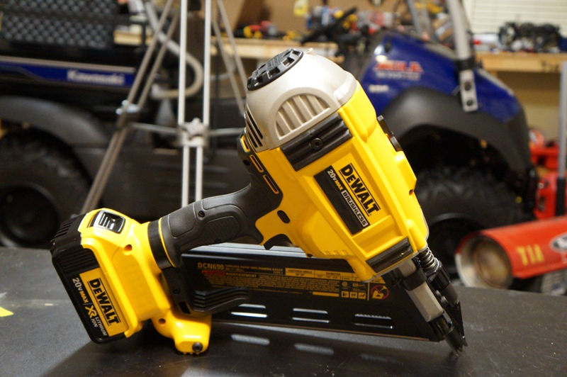 for all the newbies out there a framing nailer is a kind of air gun which is used to nail large pieces of material together