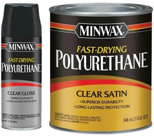 polyacrylic or polyurethane over stain