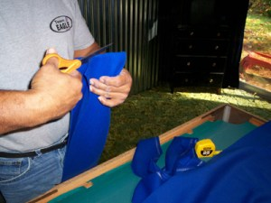 how to glue felt onto wood