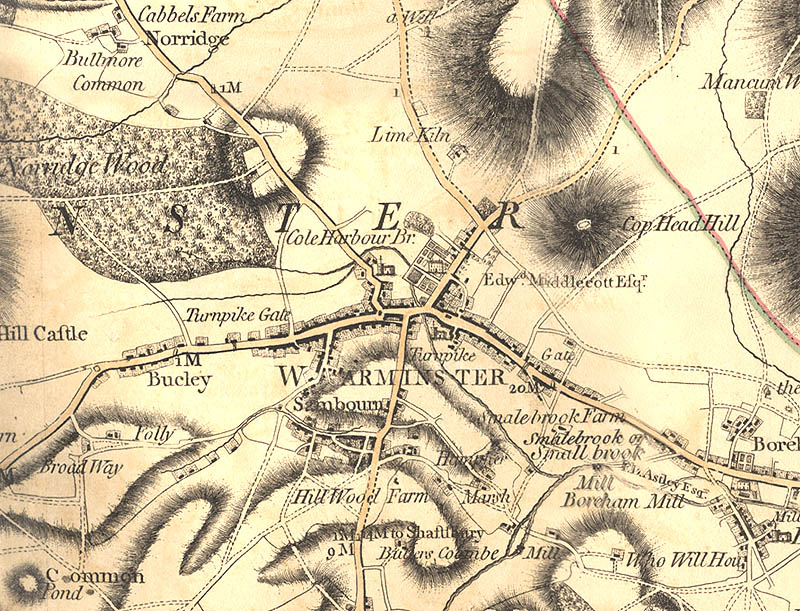 an old map of Warminster