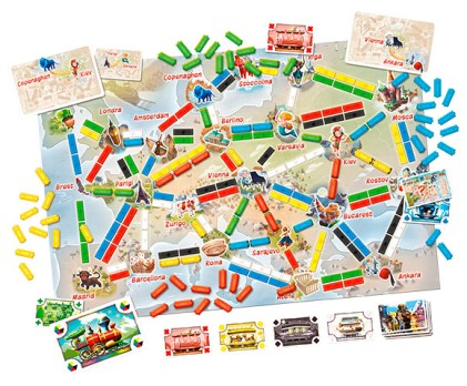 Plancia di gioco Ticket to ride primo viaggio