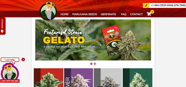 Crop King Seeds new website front page