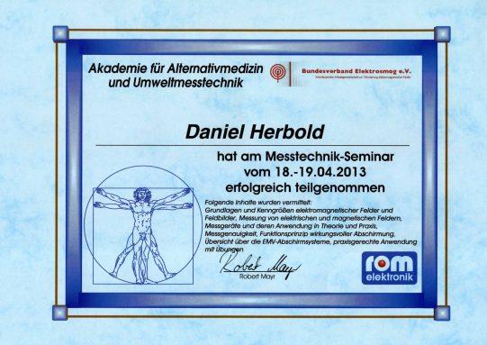 Teilnahme Schulung zum Messtechniker