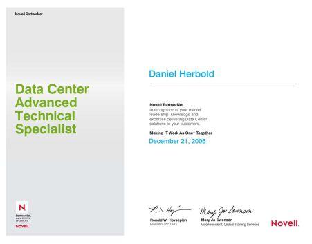 Novell Linux: Data Center Advanced Technical Specialist