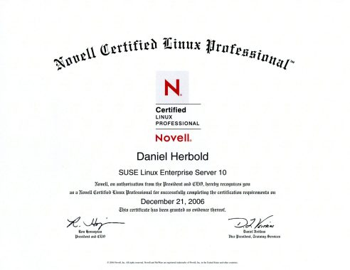 Novell Certified Linux Professional (CLP) SuSE Linux Enterprise Server 10