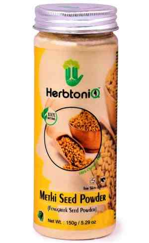 HerbtoniQ 100% Natural Methi Seed Powder For Face Pack And Hair Pack (Fenugreek Seed Powder) (150 g)