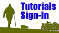 Sign-in button for herding dog training tutorials