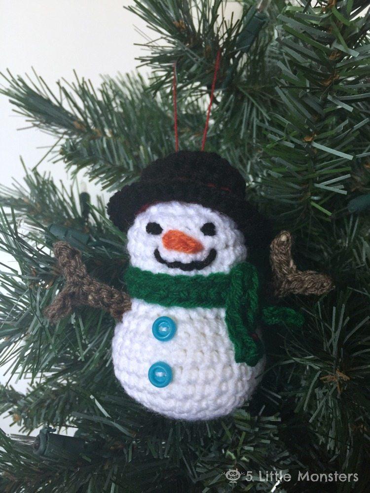 Crocheted Snowman Ornament Here Comes The Sun