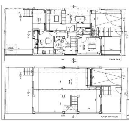 Diseño original de la vivienda