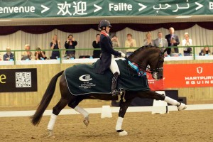 Charlotte Dujardin OBE competing at Hartpury's Festival of Dressage on Valegro in 2012. Photograph by Kevin Sparrow.