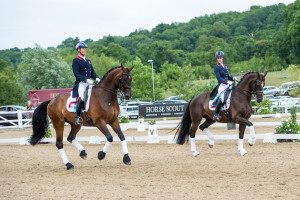 Carl Hester and Charlotte Dujardin. Photo copyright Sally Newcomb
