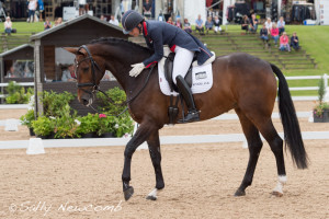 A delighted Charlotte Dujardin after her winning PSG test with Mount St John Freestyle