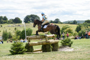 Izzy Taylor led after dressage but a rail down show jumping resulted in 2nd place