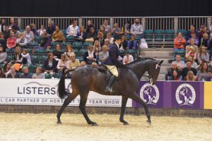 Jo Bates riding 3rd placed Bang on Trend, owned by Sophie Tranter. Photo by ES Photography