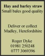 Hay & Barley Straw
