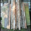 13 wooden posts