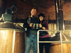 Cheers from the brew deck at Millersburg Brewery