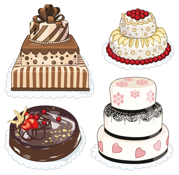 Dibujos Animados Pasteles Pan Pasteles Tarta