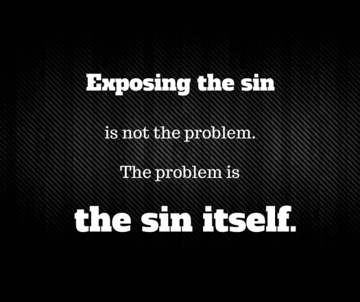 Exposing the sin