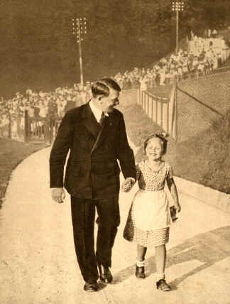 Hitler found among the admiring crowds a girl with the same birthday as he, and invited her up to the Berghof. He continued the association even after discovering she was Jewish.