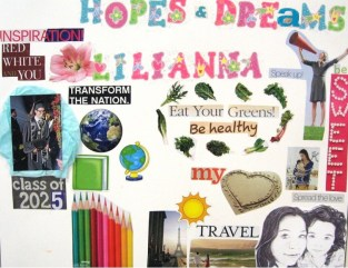 Vision board for home activity