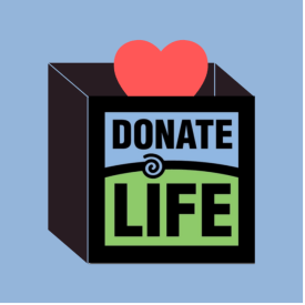 Donate Life Month graphic