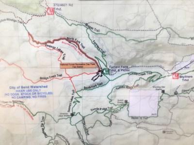 Tumalo Falls Map