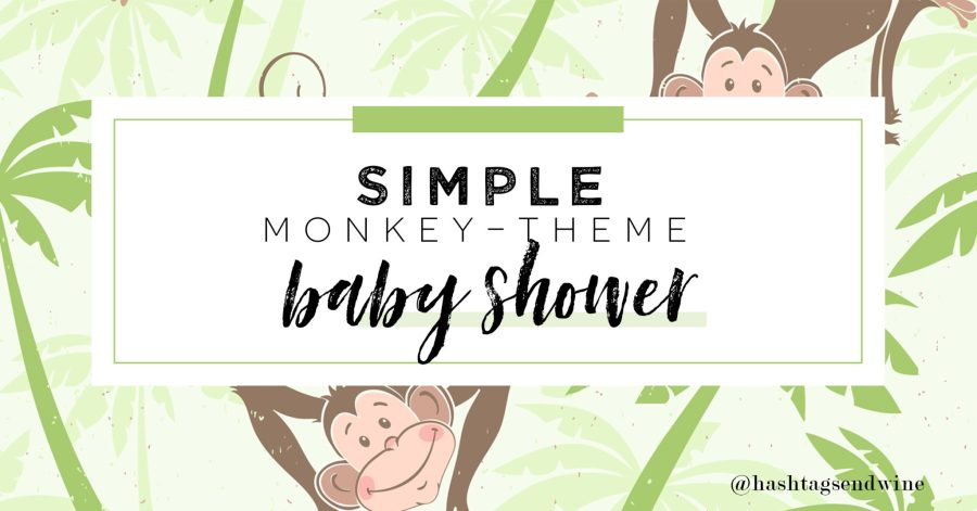 simple monkey themed baby shower