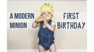 minion first birthday