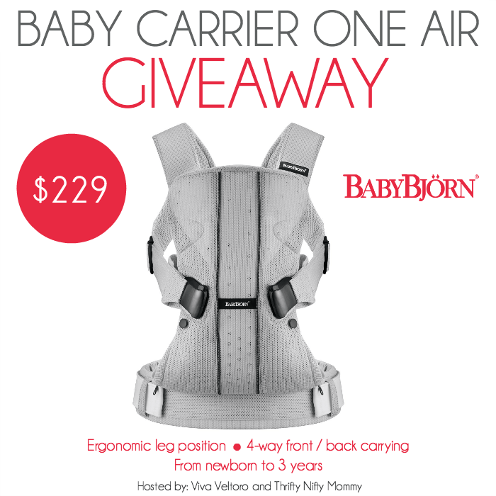 BabyBjorn Baby Carrier One Air Giveaway