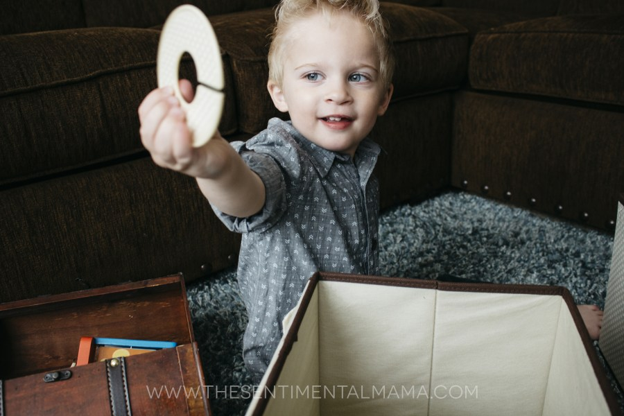 Organizing with a toddler - The Sentimental Mama - Featuring Delta Children storage set